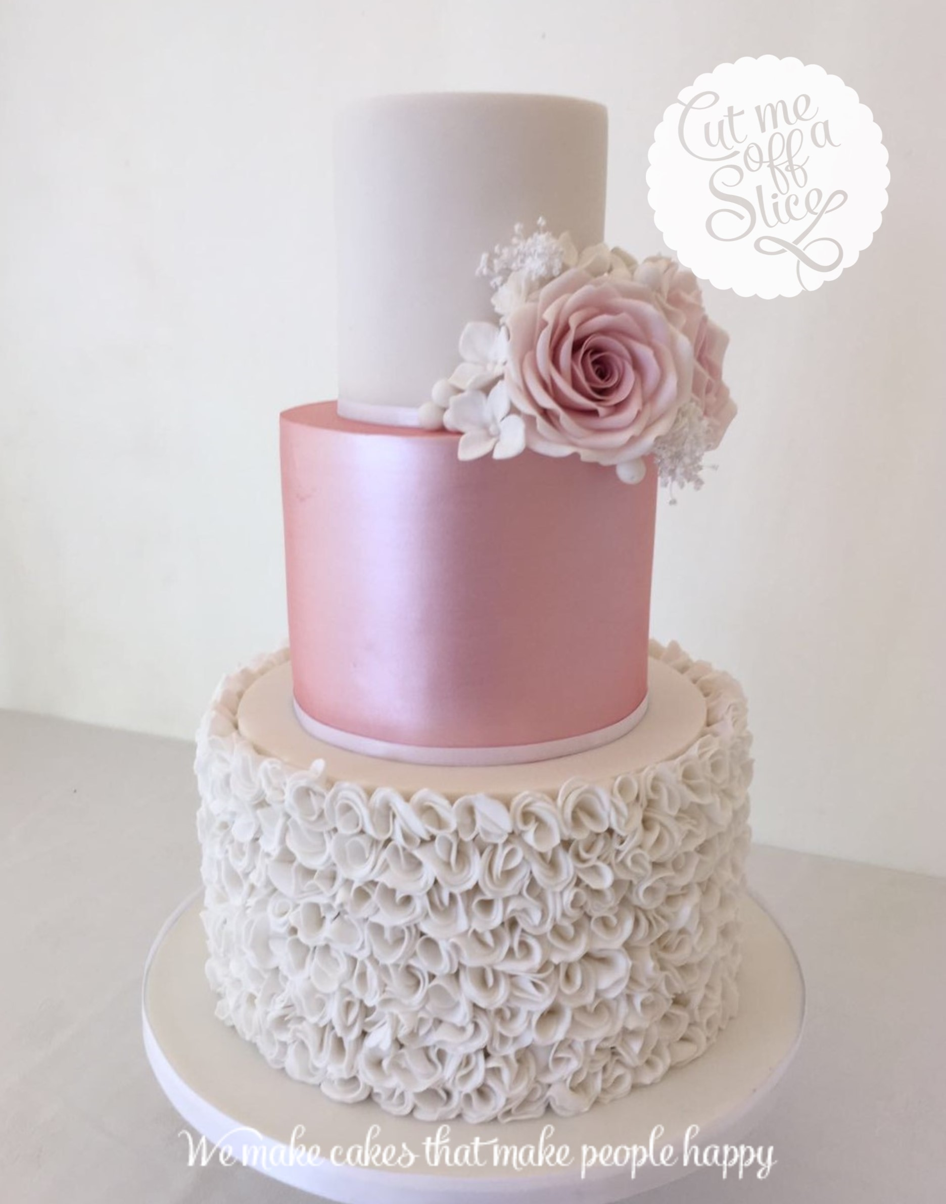 white silver and pink wedding cake metallic inspiration for wedding cakes in and cornawall 27320