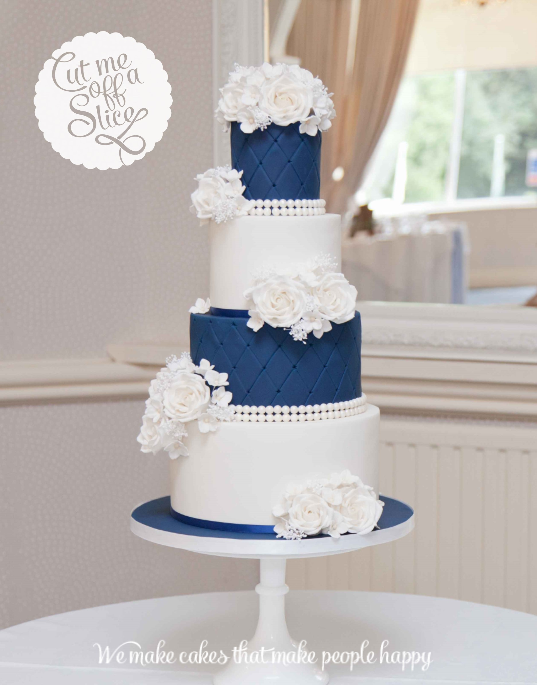 Bespoke wedding cake by Cut Me Off A Slice