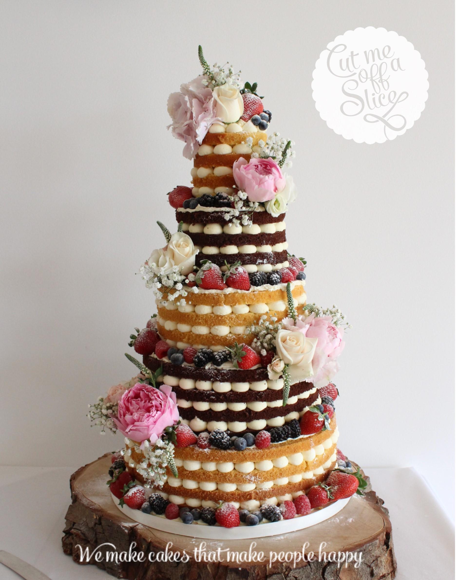 Naked Fruit Wedding Cakes