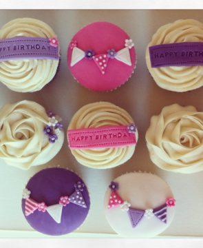 Birthday Bunting Cupcakes
