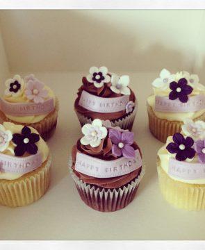 Purple Pretty Cupcakes