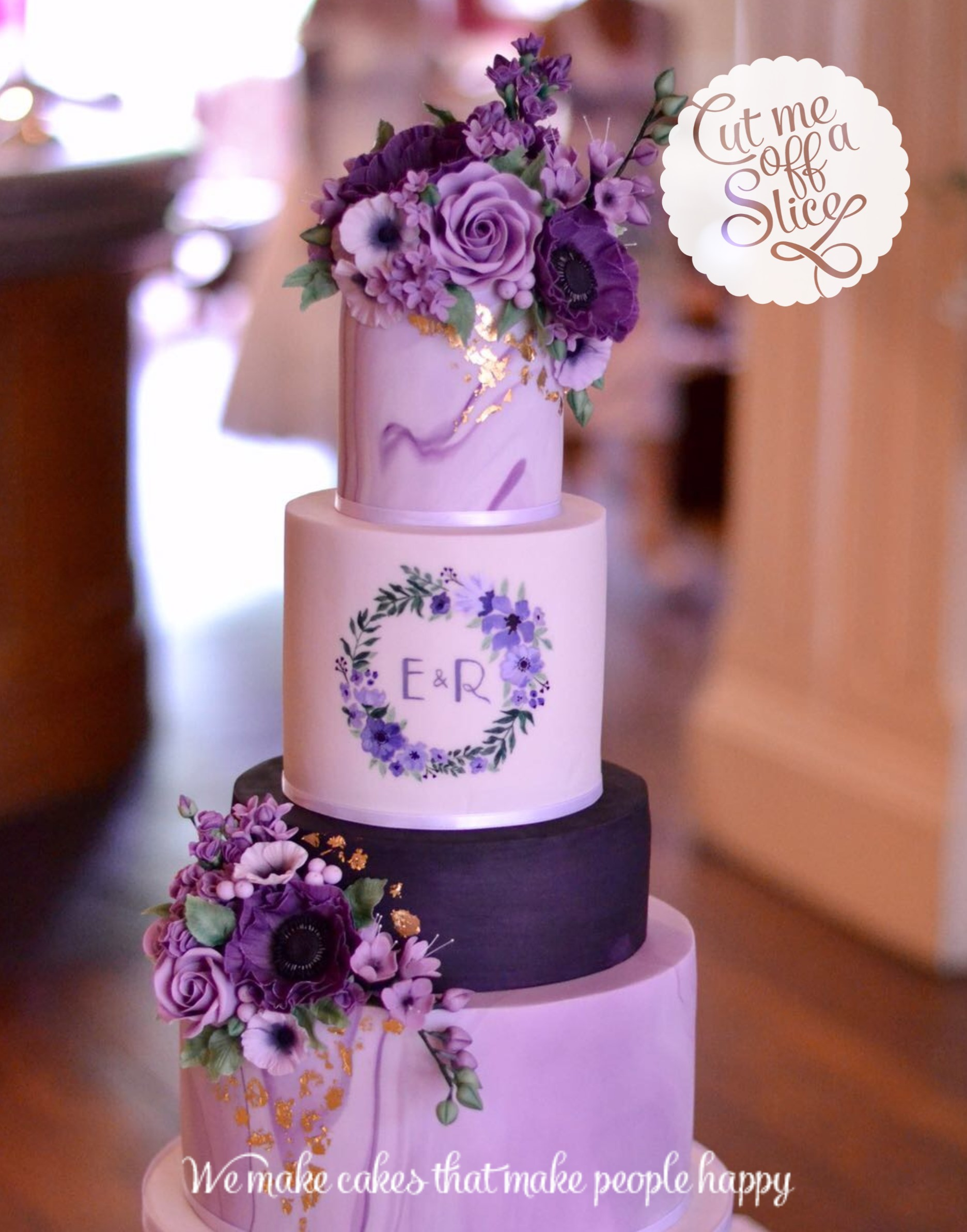 Bespoke wedding cake by Cut Me f A Slice