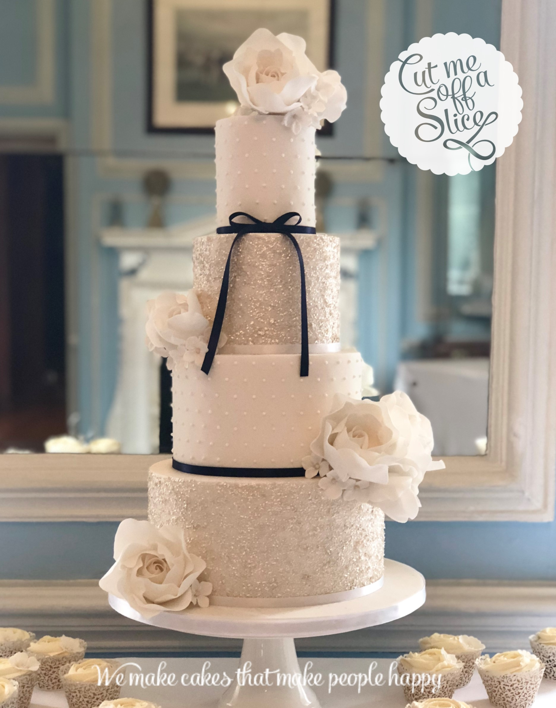 White inspiration for wedding cakes in devon by cut me off a slice well sometimes less is more and there is something simply beautiful and classic about a white on white wedding cake crisps sharp white lines junglespirit Images